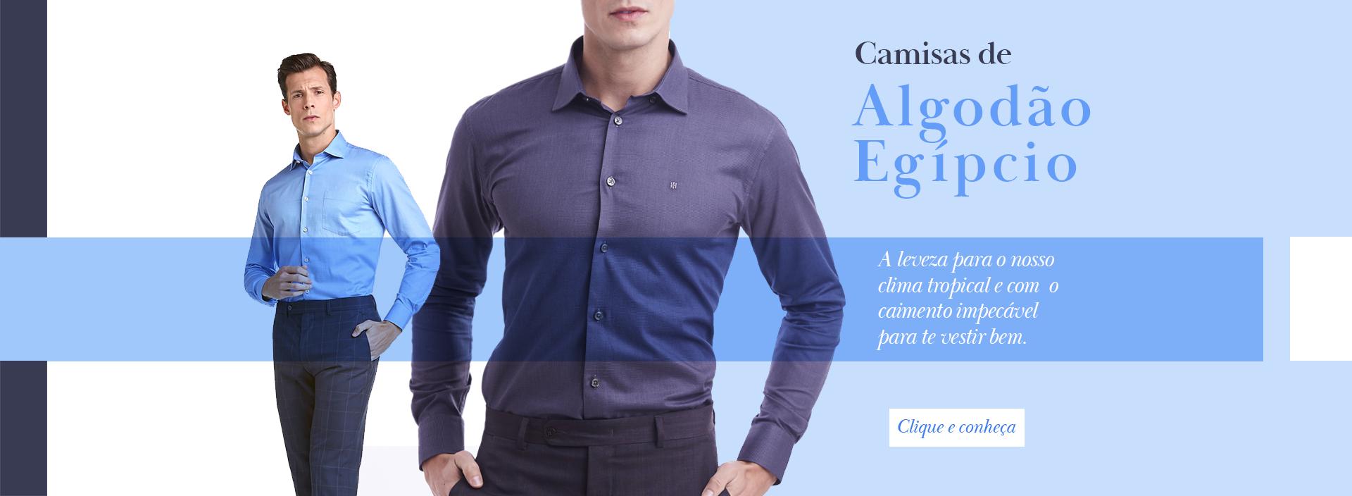 Camisas Algodão Egipcio